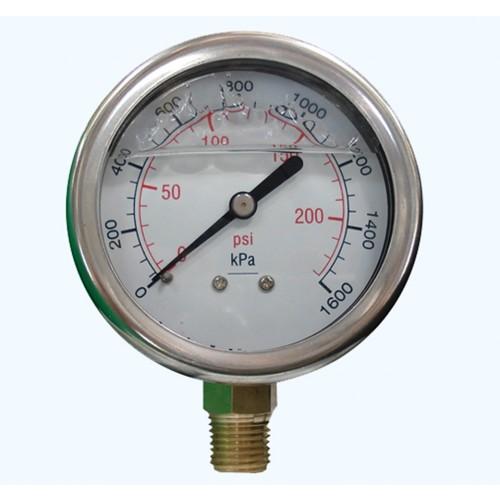 Pressure Gauge 0-690kpa 65mm face Stainless Steel