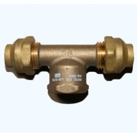 Brass Flared Compression Tees  FI