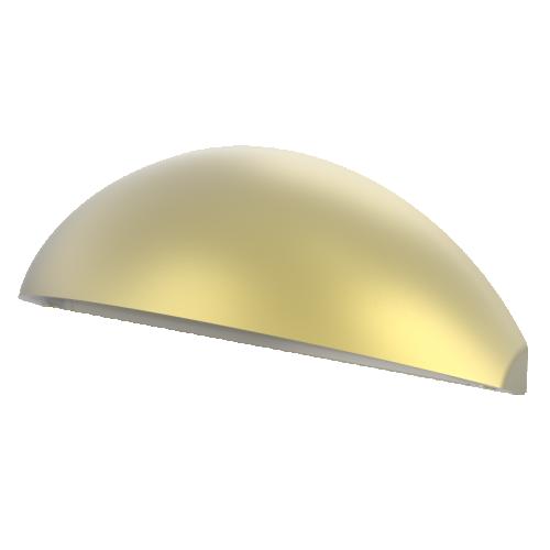 Aqualux LED Phoenix Eyelid Step/Wall Light Natural Brass