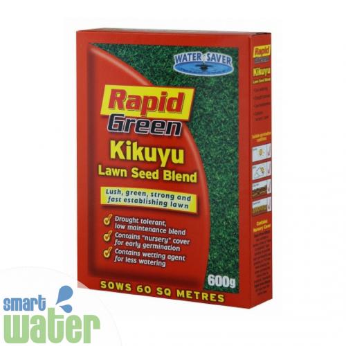 Rapid Green: Kikuyu Lawn Seed Blend (600g)