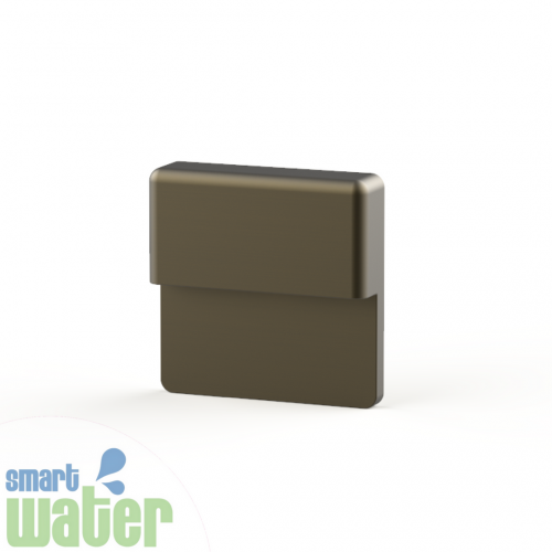 Aqualux: LED Hydra Aged Brass Slimline Step Light