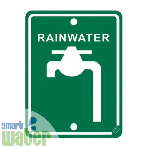 Metal Rainwater Tap Sign (70mm x 92mm)