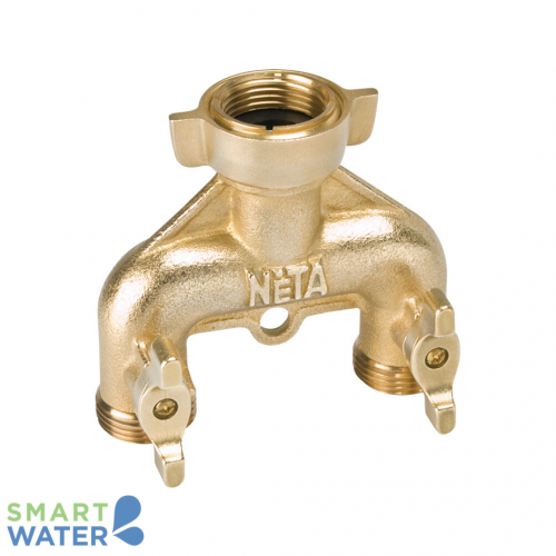 Neta: 2-Way Brass Tap Adapter (20mm)
