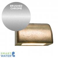 Garema Lighting: 12V Perth Series Solid Bronze Step Light (Brushed Chrome)