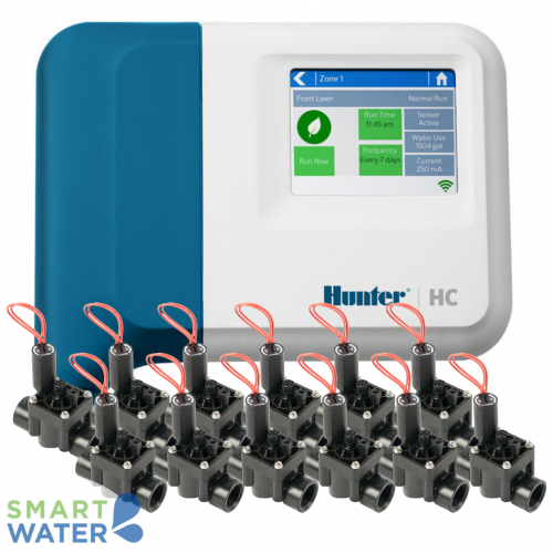 Hunter Hydrawise: HC I/D Controller & PGV F/C Solenoid Valves (12 Zone)