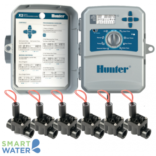 Hunter: X2 WiFi-Enabled Irrigation Control Kit (6 Zone)