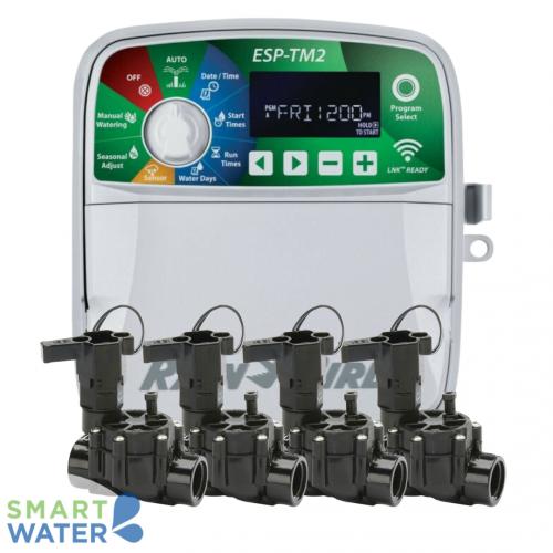 Rain Bird: ESP-TM2 WiFi-Enabled Irrigation Control Kit (4 Zone)