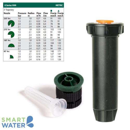 Rain Bird: 1804 100mm Pop-Up and VAN Nozzle Kit (8VAN | 1.8 – 2.4m)