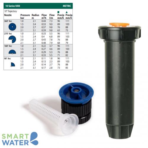 Rain Bird: 1804 100mm Pop-Up and VAN Nozzle Kit (10VAN | 2.4 – 3.0m)