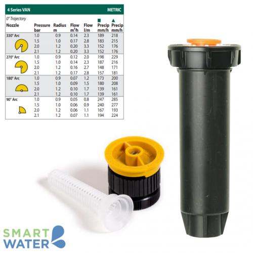 Rain Bird: 1804 100mm Pop-Up and VAN Nozzle Kit (4VAN | 0.9 – 1.2m)