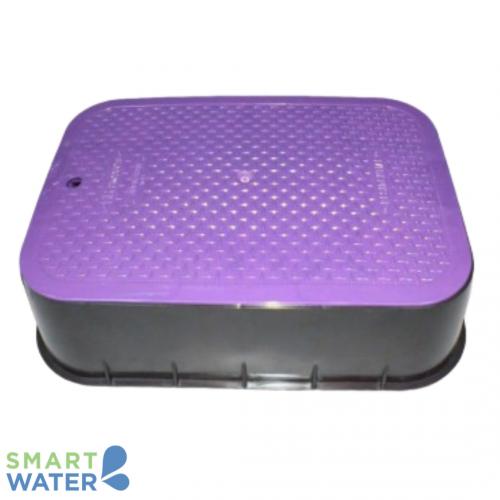 HR: Jumbo Rectangular Lilac Valve Box (565 x 450 x 120mm)