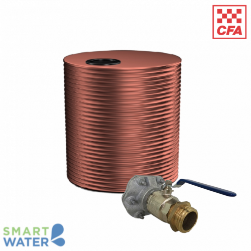 Kingspan: Fire Tank Package with CFA Fittings (10,000L Squat Round)