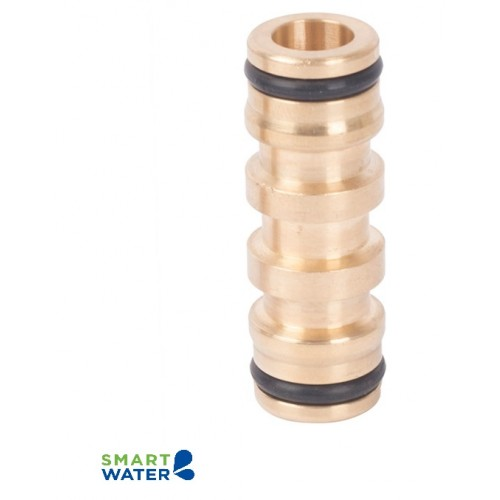 Pope: Brass High Flow 2-End Coupler (18mm Click-On)